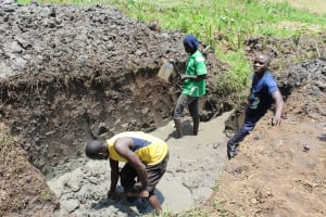 The Water Project: Emmachembe Community, Magina Spring -  Excavation