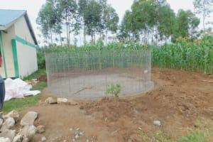 The Water Project: Elufafwa Community School -  Wire Form For Rain Tank Walls