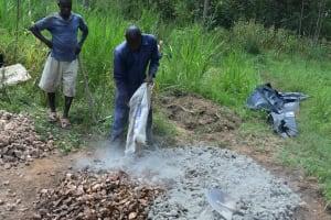 The Water Project: Sichinji Community, Kubai Spring -  Preparation Of Materials