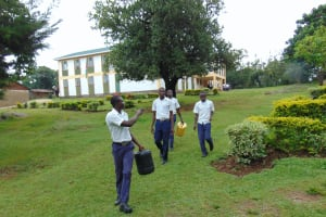 The Water Project: Friends Secondary School Shirugu -  Students Heading To Fetch Water