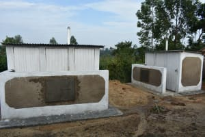 The Water Project: Elufafwa Community School -  Completed Vip Latrines
