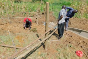 The Water Project: Sichinji Community, Kubai Spring -  Community Participating In Fencing
