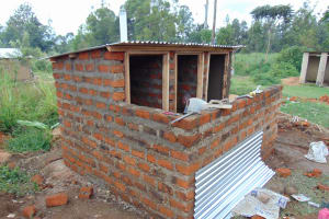 The Water Project: Mukangu Primary School -  Latrine Block Construction