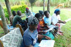 The Water Project: Bung'onye Community, Shilangu Spring -  Group Work