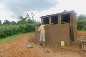 The Water Project: Shinyikha Primary School -  Latrines Take Shape