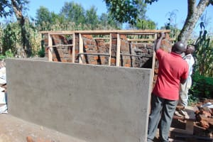 The Water Project: Mukangu Primary School -  Framing The Latrine Doors And Roof