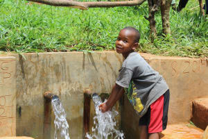 The Water Project: Mushina Community, Shikuku Spring -  Water Roars From Shikuku Spring