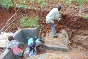 The Water Project: Shamakhokho Community, Imbai Spring -  Site Leveling