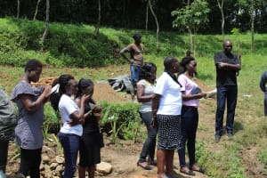 The Water Project: Emmachembe Community, Magina Spring -  Field Staff On Site At Training