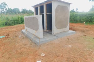 The Water Project: Shinyikha Primary School -  Latrines Nearing Completion