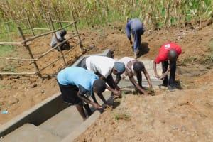 The Water Project: Sichinji Community, Kubai Spring -  Community Participates In Grass Planting