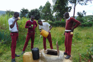The Water Project: Friends School Ikoli Secondary -  Students Collecting Water