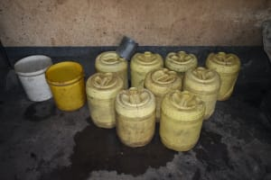 The Water Project: St. Peter's Khaunga Secondary School -  Water Storage Containers