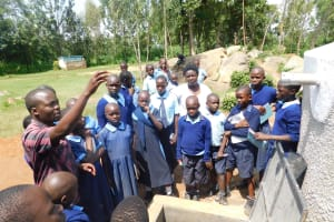 The Water Project: Enyapora Primary School -  Learning About The Rain Tank