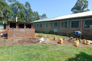 The Water Project: Ematiha Secondary School -  Latrines Take Shape