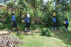 The Water Project: Malinda Secondary School -  Students Carrying Water