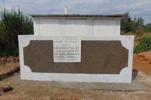The Water Project: Mukangu Primary School -  Finished Latrine Block