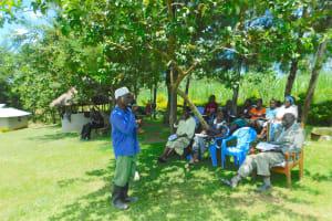 The Water Project: Bung'onye Community, Shilangu Spring -  Volunteer During Dental Hygiene Session