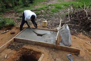 The Water Project: Bungaya Community, Charles Khainga Spring -  Sanitation Platform Construction