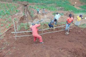 The Water Project: Shamakhokho Community, Imbai Spring -  Fencing