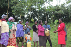 The Water Project: Emmachembe Community, Magina Spring -  Betty Leads A Training Session