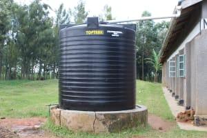 The Water Project: St. Gerald Mayuge Secondary School -  Plastic Rain Tank