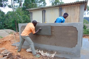 The Water Project: Musasa Primary School -  Inscribing The Latrines