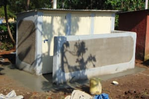The Water Project: Ematiha Secondary School -  Latrines Awaiting Their Plaque