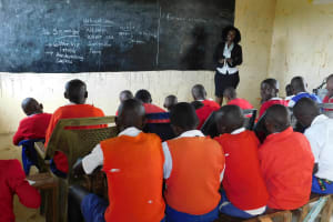 The Water Project: Goibei Primary School -  Field Officer Laura Alulu Leading A Training Session On Sanitation And Hygiene
