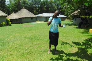 The Water Project: Bung'onye Community, Shilangu Spring -  Practice Brushing Teeth