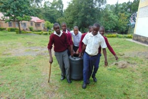 The Water Project: Friends Secondary School Shirugu -  Students Carrying Water