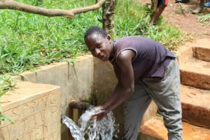 The Water Project: Mushina Community, Shikuku Spring -  Refreshed By The Spring