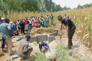 The Water Project: Sichinji Community, Kubai Spring -  Trainer David Leads Site Management Session