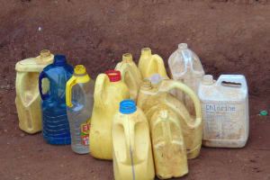 The Water Project: Kapsaoi Primary School -  Water Storage Containers