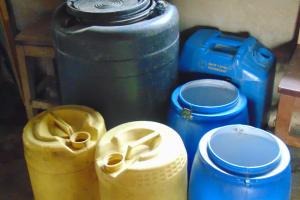 The Water Project: Kapkoi Primary School -  Water Storage Containers