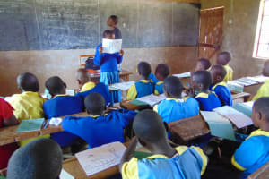 The Water Project: Musasa Primary School -  Student Leads An Activity