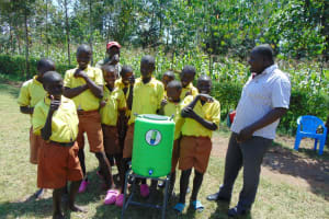 The Water Project: St. Margret Wadin'go Primary School -  Happy Students At A Handwashing Station