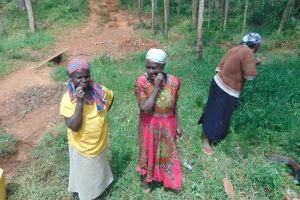 The Water Project: Shamakhokho Community, Imbai Spring -  Toothbrushing