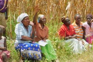 The Water Project: Sichinji Community, Kubai Spring -  A Reaction During Training