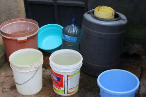 The Water Project: Friends Secondary School Shirugu -  Water Storage Containers