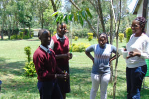 The Water Project: Ematiha Secondary School -  Facilitator Christine Masinde Leads Dental Hygiene Training