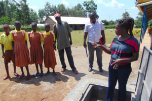 The Water Project: St. Margret Wadin'go Primary School -  Learning About The Rain Tank