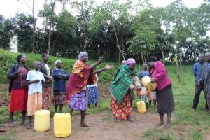 The Water Project: Emmachembe Community, Magina Spring -  Handwashing Practice