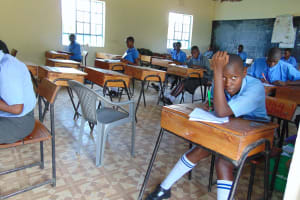 The Water Project: Malinda Secondary School -  Students In Class Doing Examinations
