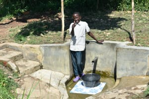 The Water Project: Bukhanga Community, Indangasi Spring -  Nicholas Muhatia Posing At The Water Point