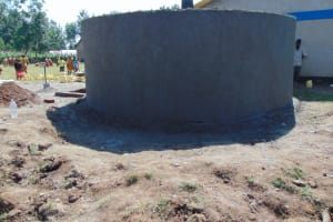 The Water Project: St. Margret Wadin'go Primary School -  Tank Gets Outer Cement
