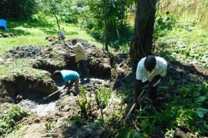 The Water Project: Bung'onye Community, Shilangu Spring -  Excavation