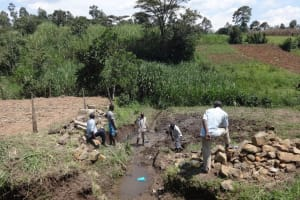 The Water Project: Bungaya Community, Charles Khainga Spring -  Communiy Members At The Spring