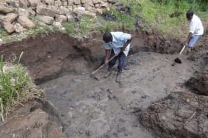 The Water Project: Bungaya Community, Charles Khainga Spring -  Excavation