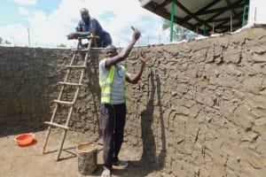 The Water Project: Elufafwa Community School -  Working Inside The Rain Tank